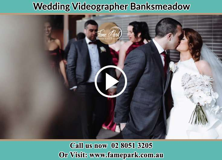 Bride and Groom kissed at the hallway Banksmeadow NSW 2019