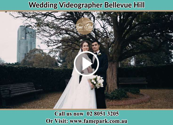Bride and Groom at the park Bellevue Hill NSW 2023