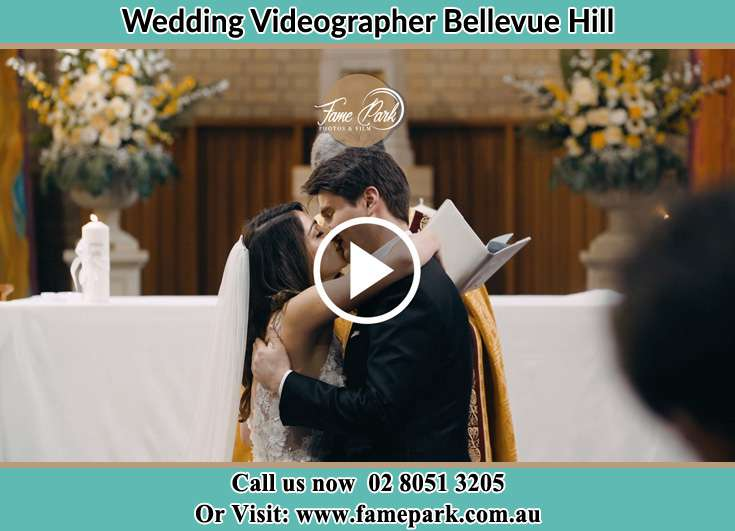 Bride and Groom kissed at the altar Bellevue Hill NSW 2023