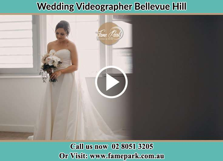 Bride holding a bouquet of flowers Bellevue Hill NSW 2023