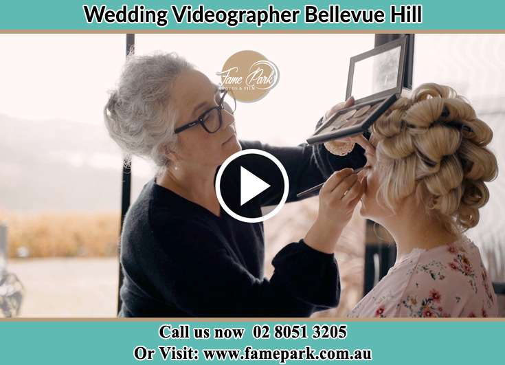 Bride getting her make up down Bellevue Hill NSW 2023
