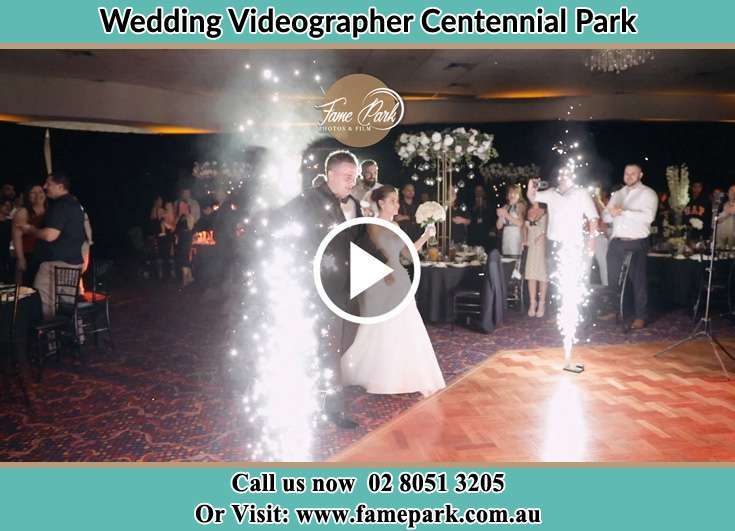 Bride and Groom at the dance floor Centennial Park NSW 2021