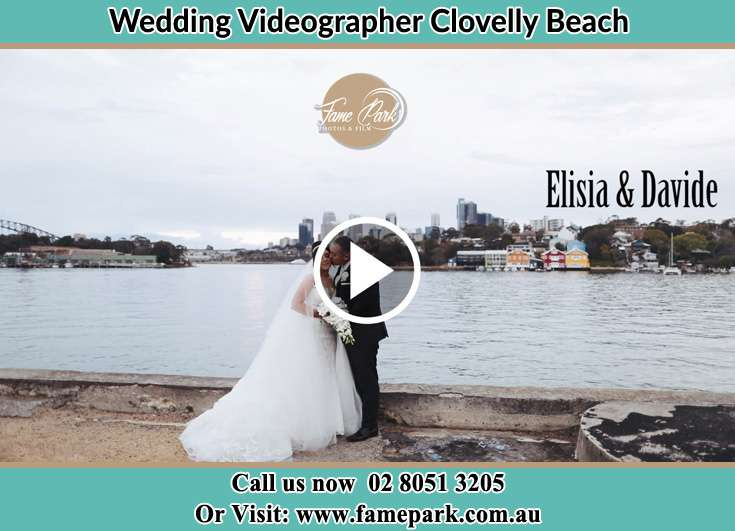 Bride and Groom at the shore Clovelly Beach NSW 2031
