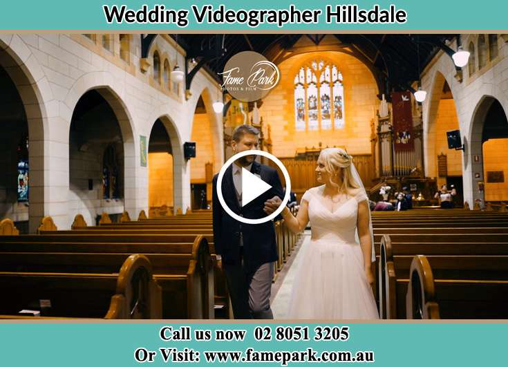 Bride and Groom walking at the aisle Hillsdale NSW 2036