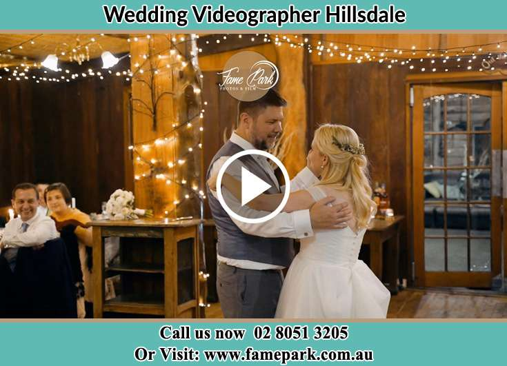 Bride and Groom looking at each other while dancing Hillsdale NSW 2036