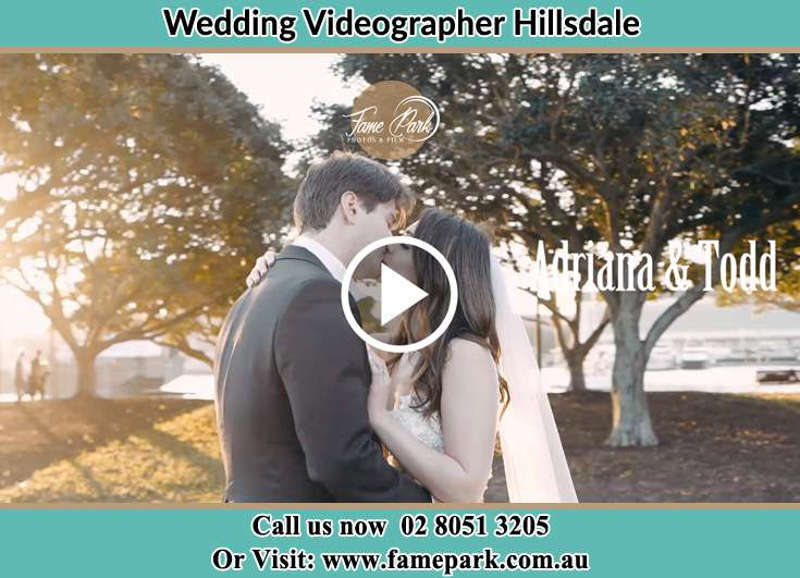Bride and Groom kissed at the park Hillsdale NSW 2036