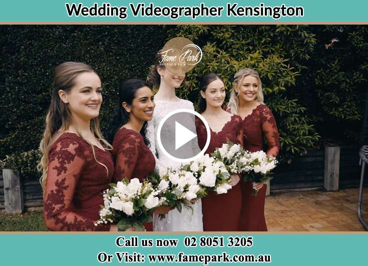 Bride and her secondary sponsors Kensington NSW 2033