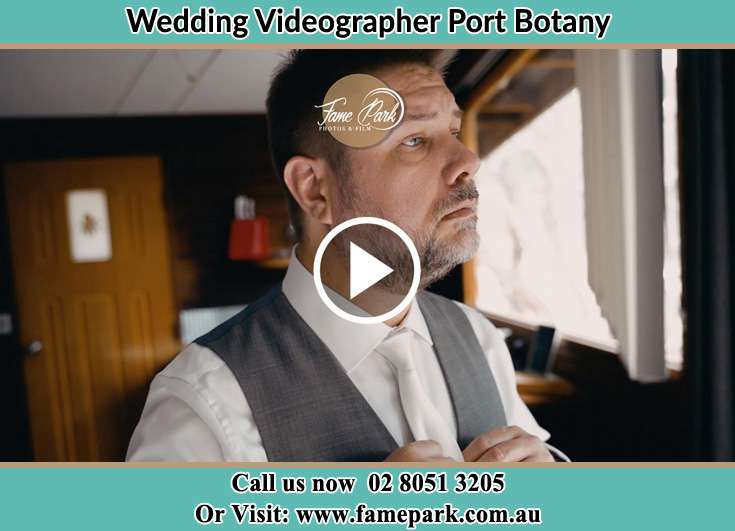 The Groom getting ready for his wedding Port Botany NSW 2036