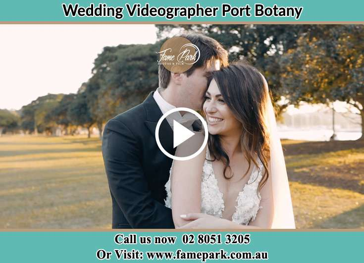 The Groom kissed the cheeks of his Bride Port Botany NSW 2036
