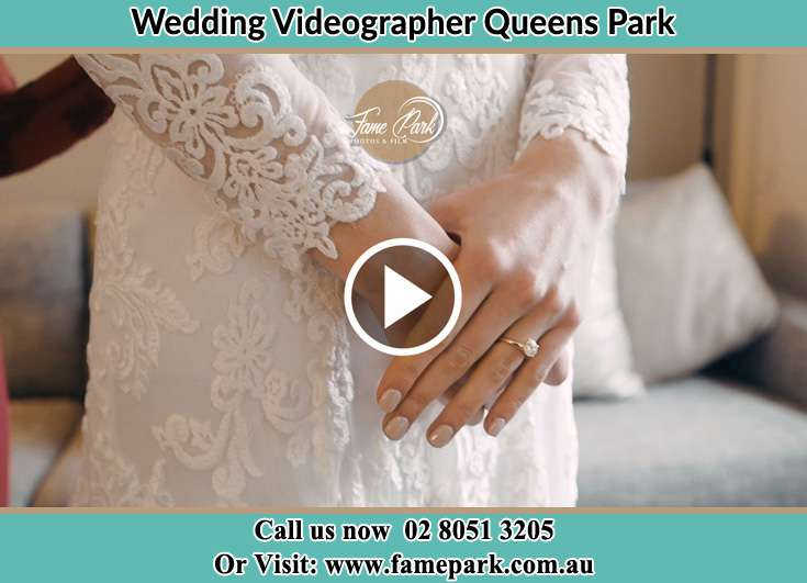 The Bride wears her wedding ring Queens Park NSW 2022
