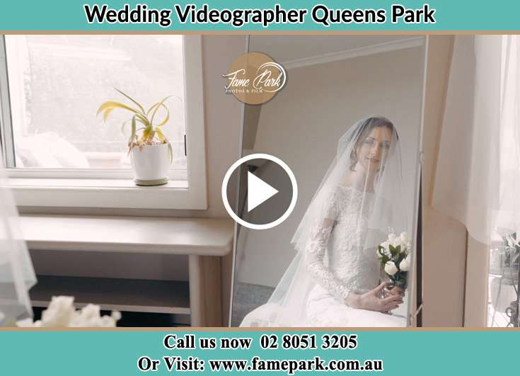 The Bride looking at the mirror Queens Park NSW 2022