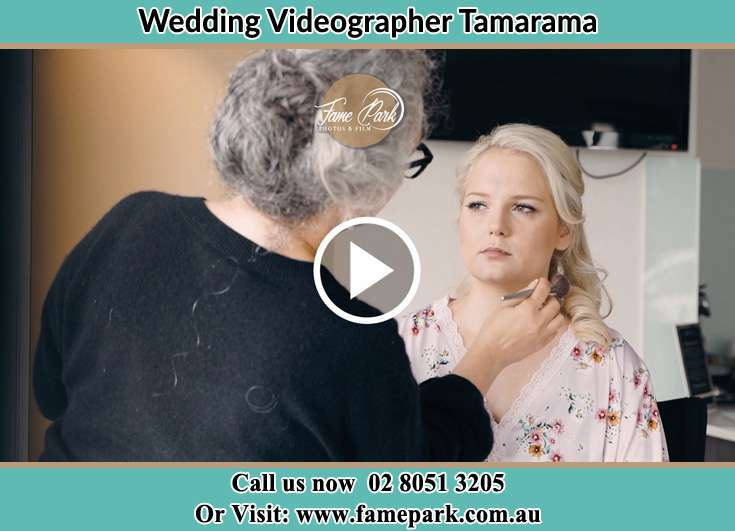 The Bride having her make up done by her mother Tamarama NSW 2026